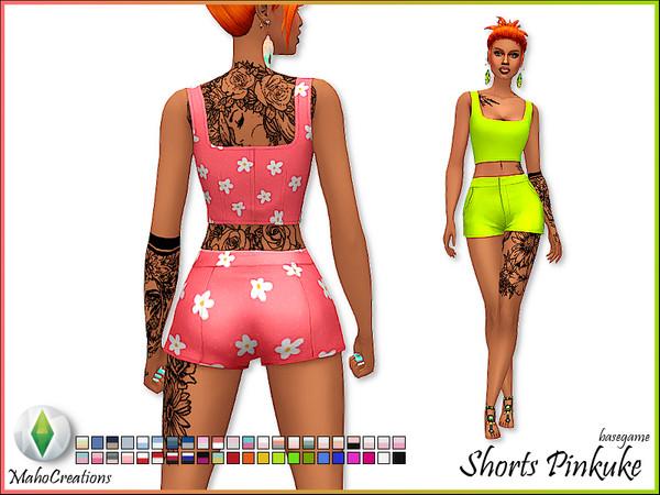 Sims 4 Shorts Pinkuke by MahoCreations at TSR