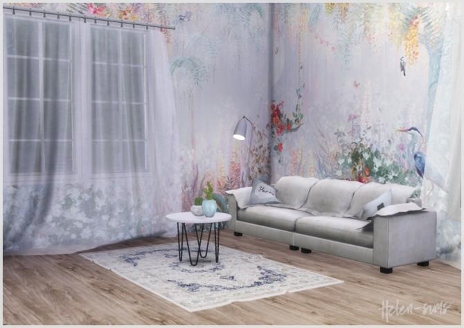 Sims 4 Wallpaper Affresco Botany/Forest 02 at Helen Sims