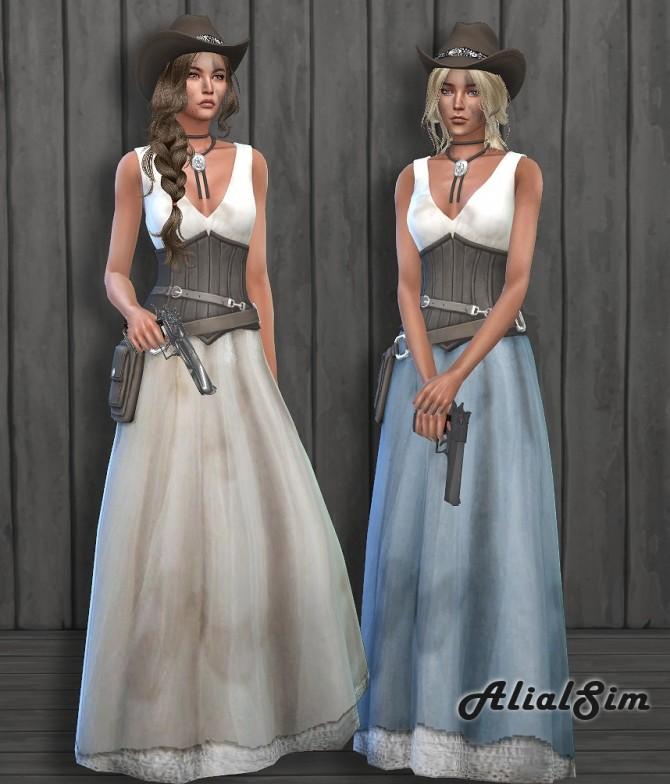Sims 4 Western Dress at Alial Sim
