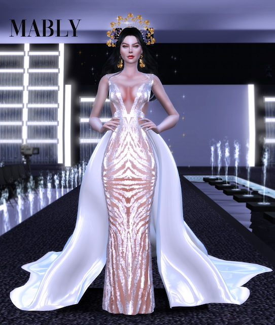 Sims 4 DAIMOND dress at Mably Store