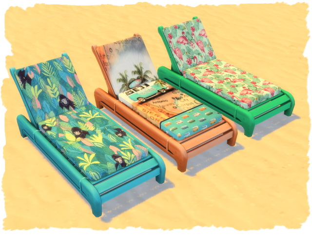 Colorful beach lounger by Chalipo at All 4 Sims image 13712 Sims 4 Updates