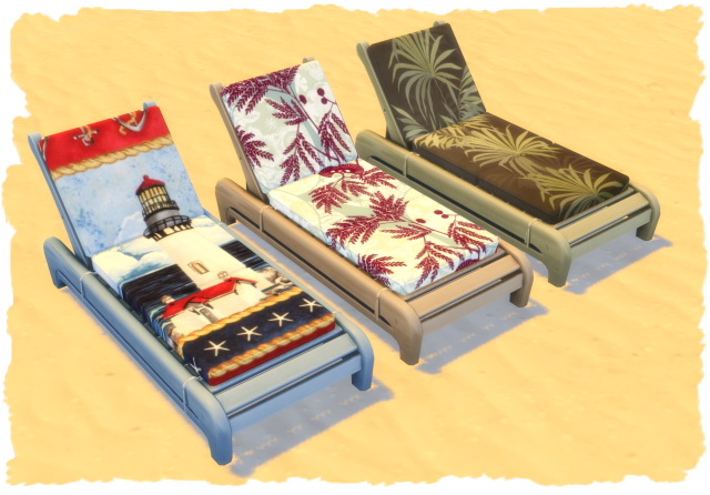 Colorful beach lounger by Chalipo at All 4 Sims image 13811 Sims 4 Updates