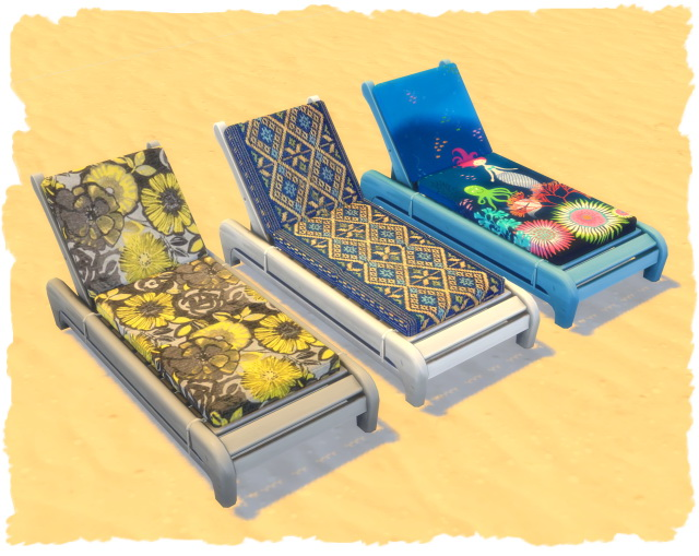 Sims 4 Colorful beach lounger by Chalipo at All 4 Sims