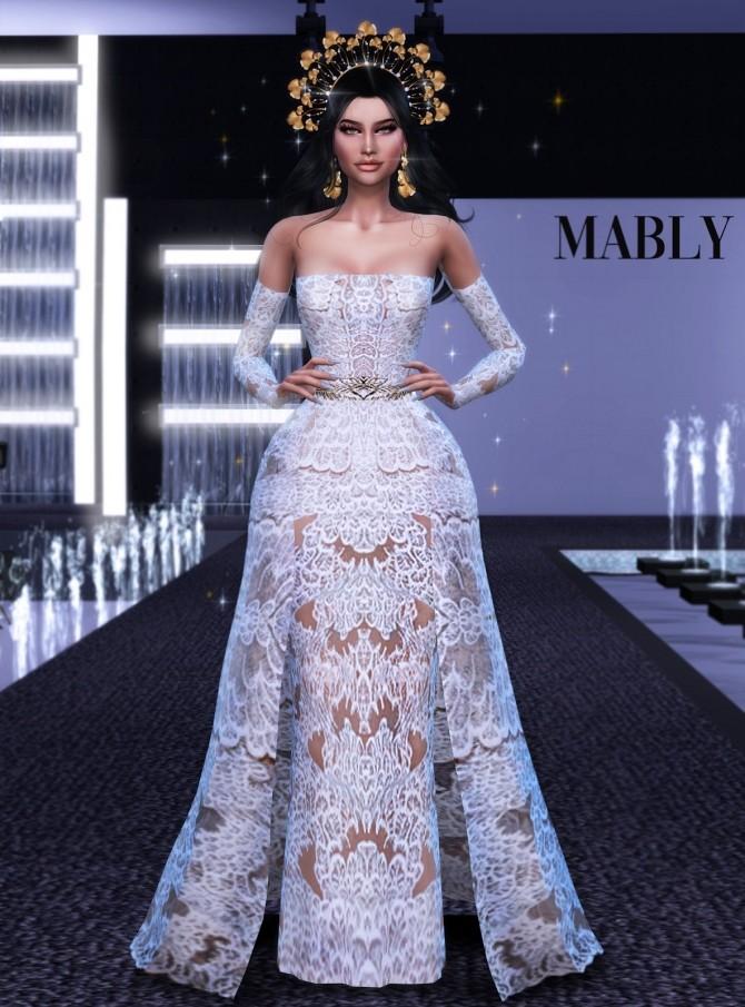Sims 4 BRIDAL 8 dress at Mably Store