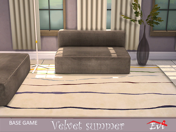 Velvet summer rugs by evi at TSR image 1419 Sims 4 Updates