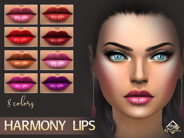 Sims 4 Harmony Lipstick by Devirose at TSR