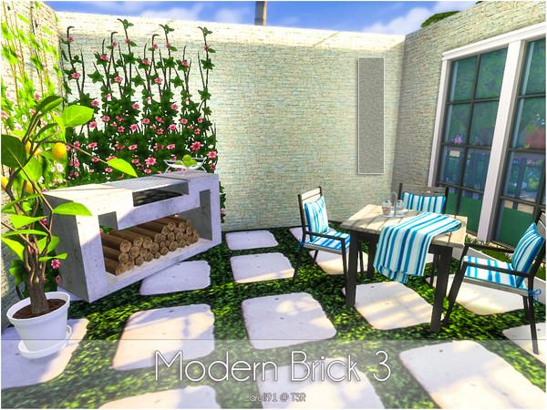 Sims 4 Modern Bricks by Caroll91 at TSR
