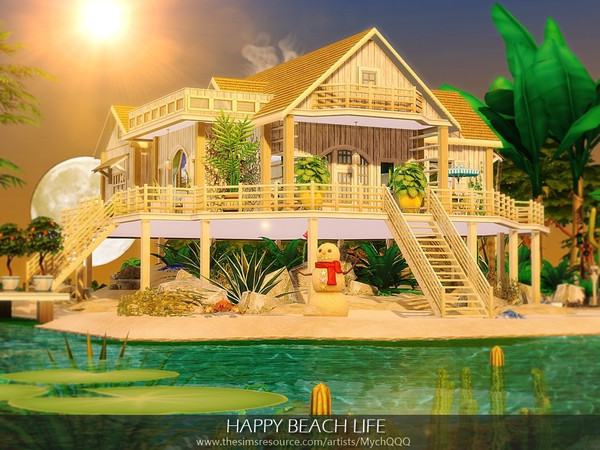 Sims 4 Happy Beach Life by MychQQQ at TSR