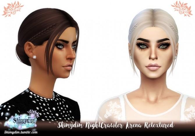 Sims 4 NightCrawler Arena Hair Retexture Naturals + Unnaturals at Shimydim Sims