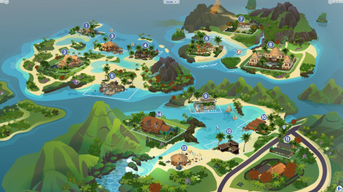 Sims 4 Sulani Sirens world collaboration project