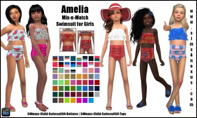 Sims 4 Amelia mix n match swimsuits by SamanthaGump at Sims 4 Nexus