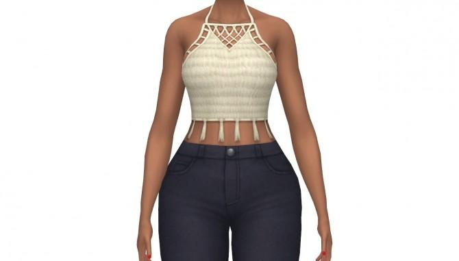 Sims 4 Croc hey Halter Top at leeleesims1