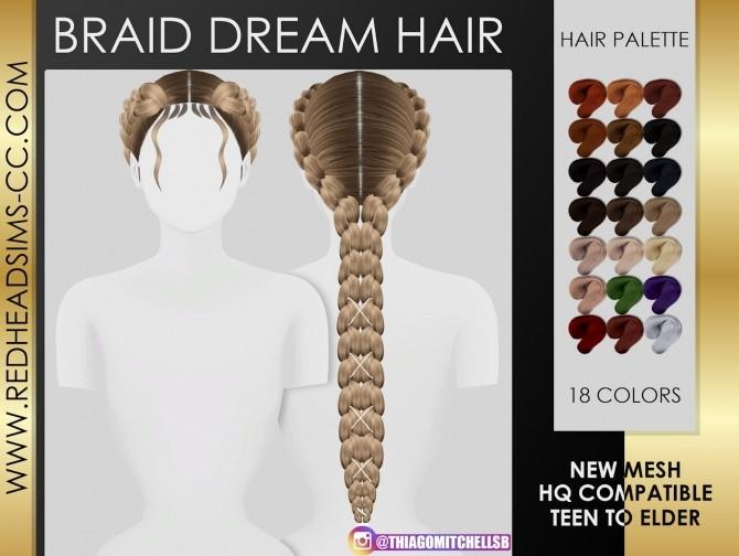 BRAID DREAM HAIR by Thiago Mitchell at REDHEADSIMS image 1493 670x504 Sims 4 Updates