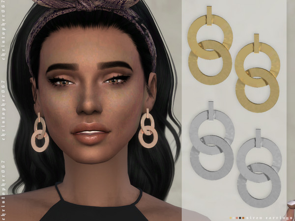 Siren Earrings by Christopher067 at TSR image 1515 Sims 4 Updates