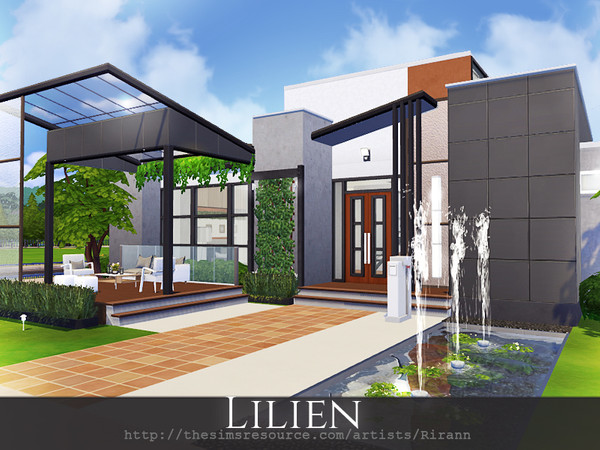 Lilien contemporary house by Rirann at TSR image 1523 Sims 4 Updates