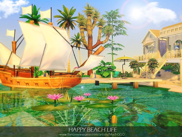Happy Beach Life by MychQQQ at TSR image 1524 Sims 4 Updates