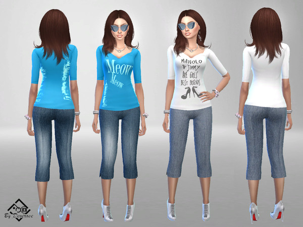 Sims 4 YoungLife Outfit by Devirose at TSR