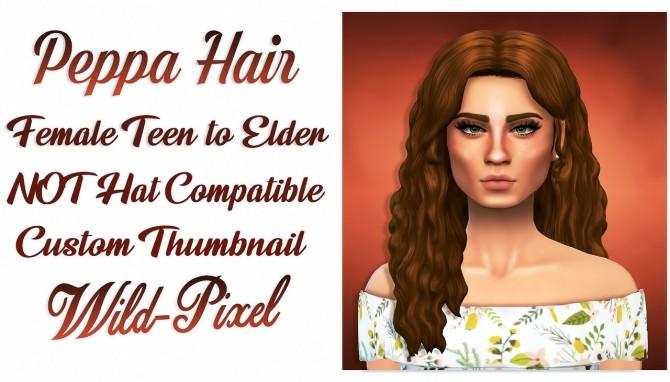 Sims 4 PEPPA HAIR at Wild Pixel
