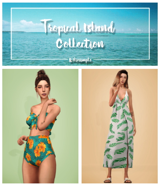 Tropical Island Collection Part 2 at Elliesimple image 1545 Sims 4 Updates