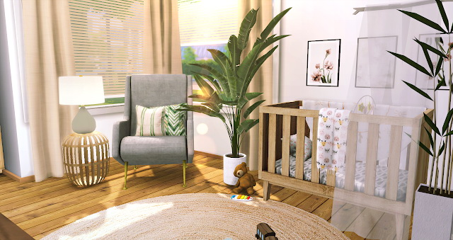 Sims 4 Green Summer Toddler Room at Liney Sims