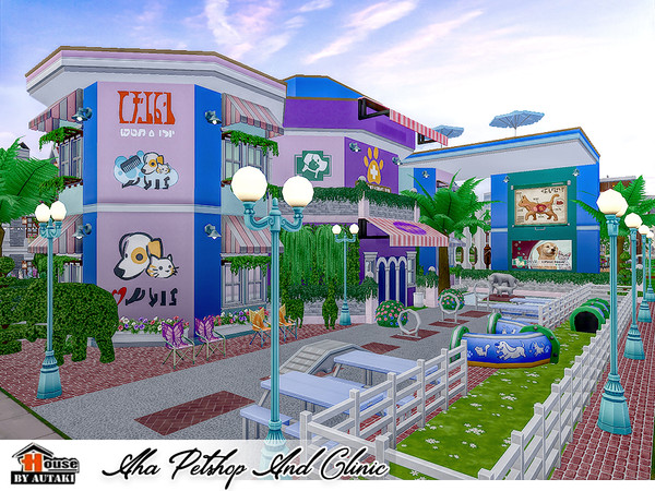 Sims 4 Aha Petshop And Clinic by autaki at TSR