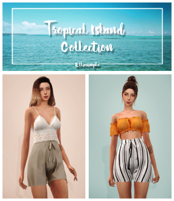 Sims 4 Tropical Island Collection Part 1 at Elliesimple