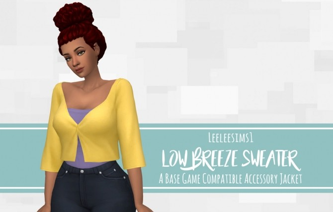 Low Breeze Sweater Accessory Jacket at leeleesims1 image 1599 670x427 Sims 4 Updates
