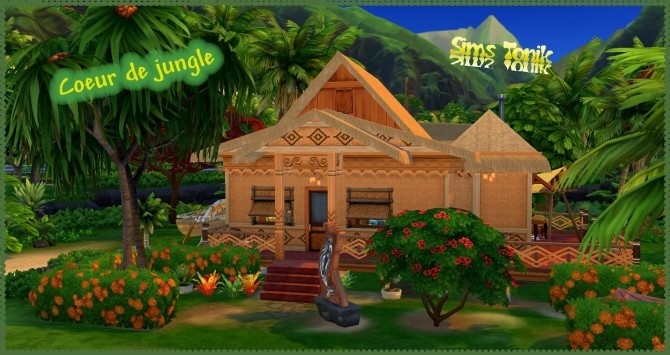 Sims 4 Jungle Heart house by Coco Simy at L'UniverSims