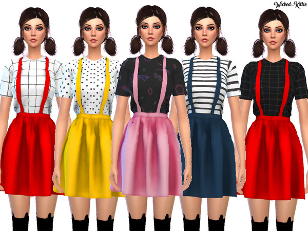 Kawaii Suspender Dress by Wicked Kittie at TSR image 1610 Sims 4 Updates