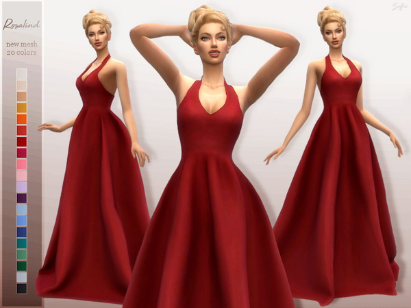 Sims 4 Rosalind Gown by Sifix at TSR