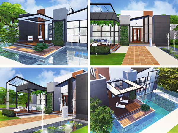 Lilien contemporary house by Rirann at TSR image 1624 Sims 4 Updates