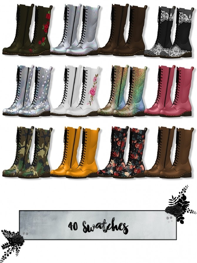 Sims 4 Raven Boots AM/KIDS/TODDLERS at Lumy Sims
