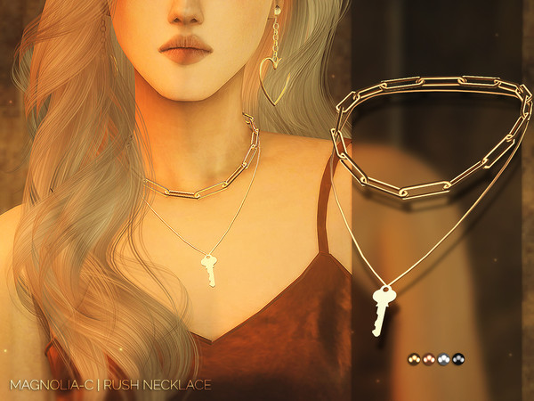 Sims 4 Rush Necklace by Magnolia C at TSR