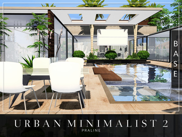 Urban Minimalist 2 house by Pralinesims at TSR image 1715 Sims 4 Updates