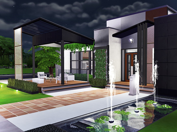 Lilien contemporary house by Rirann at TSR image 1725 Sims 4 Updates