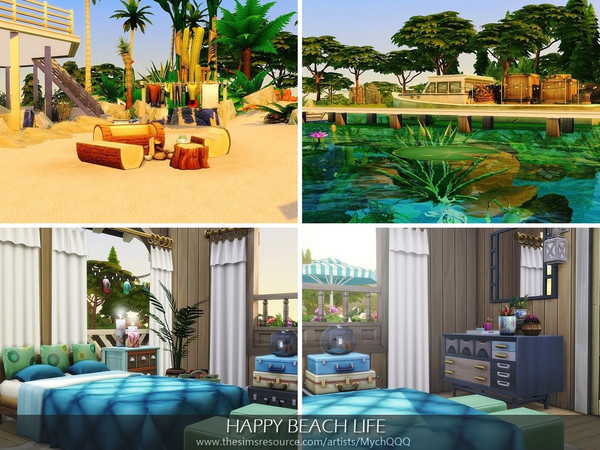 Happy Beach Life by MychQQQ at TSR image 1726 Sims 4 Updates