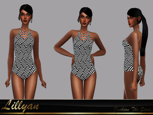 Sims 4 Heleonor swimsuit by LYLLYAN at TSR