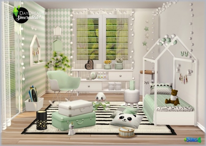 DAYDREAMER bedroom for kids, toddlers and teens (P) at SIMcredible! Designs 4 image 18112 670x474 Sims 4 Updates
