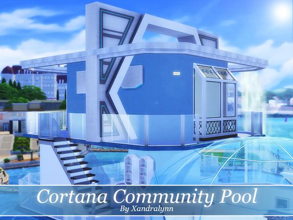 Sims 4 Cortana Community Pool by Xandralynn at TSR