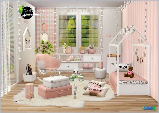 DAYDREAMER bedroom for kids, toddlers and teens (P) at SIMcredible! Designs 4 image 1827 670x474 Sims 4 Updates