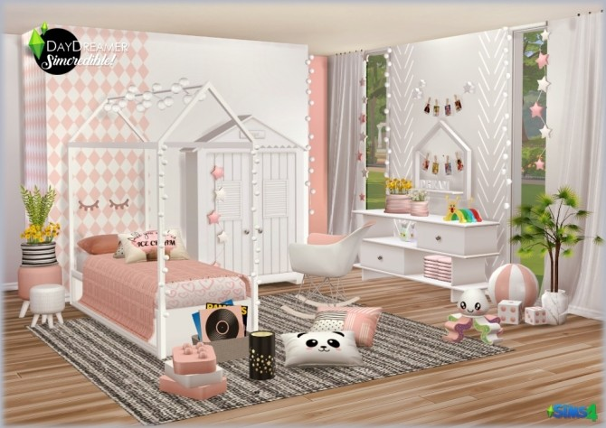 DAYDREAMER bedroom for kids, toddlers and teens (P) at SIMcredible! Designs 4 image 1843 670x474 Sims 4 Updates