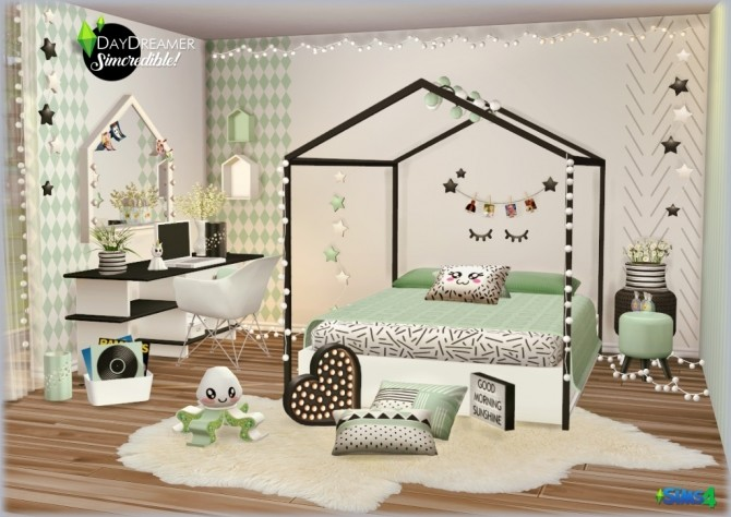 Sims 4 DAYDREAMER bedroom for kids, toddlers and teens (P) at SIMcredible! Designs 4