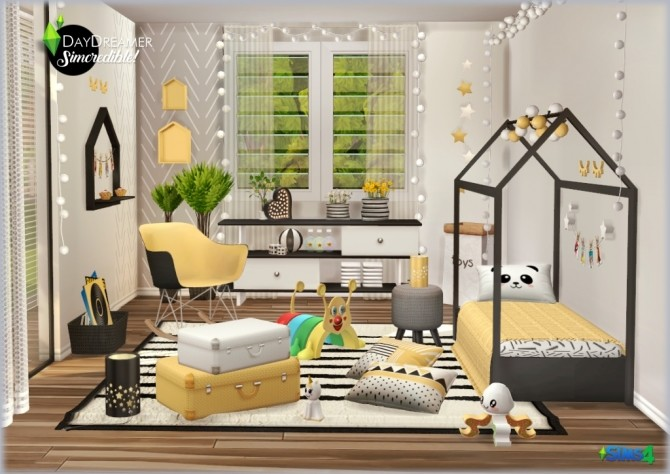DAYDREAMER bedroom for kids, toddlers and teens (P) at SIMcredible! Designs 4 image 1882 670x474 Sims 4 Updates