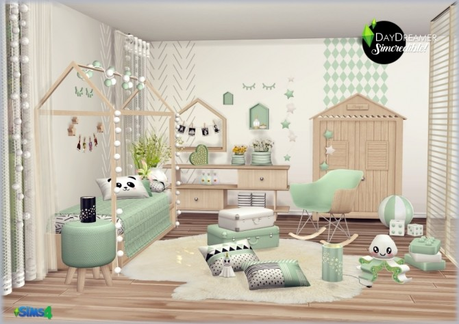 Daydreamer Bedroom For Kids Simcredible Designs Sims 4