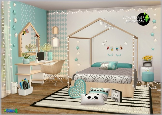 DAYDREAMER bedroom for kids, toddlers and teens (P) at SIMcredible! Designs 4 image 1902 670x474 Sims 4 Updates