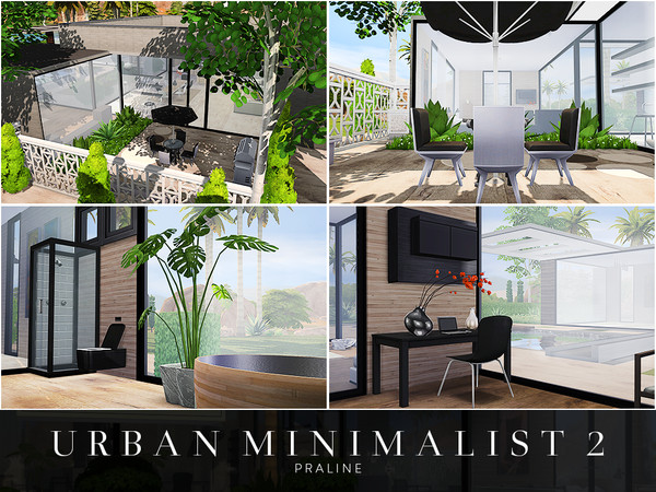 Urban Minimalist 2 house by Pralinesims at TSR image 1915 Sims 4 Updates