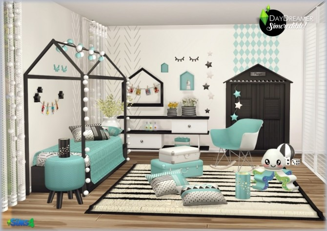 DAYDREAMER bedroom for kids, toddlers and teens (P) at SIMcredible! Designs 4 image 1927 670x474 Sims 4 Updates