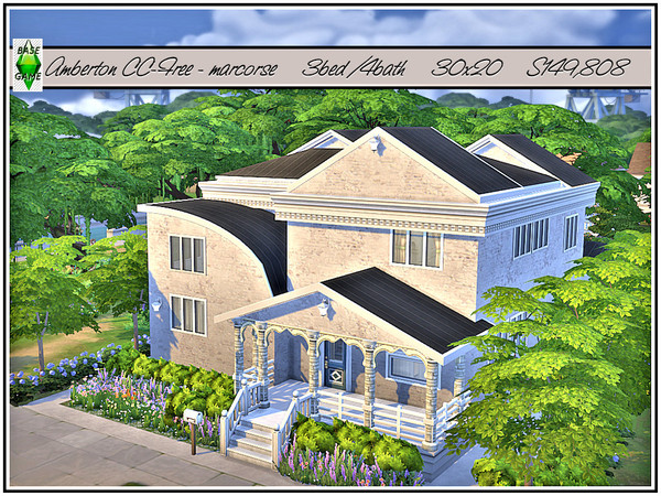 Amberton house by marcorse at TSR image 2 Sims 4 Updates