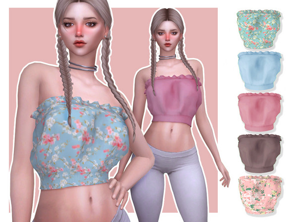 Iris AF Top by Screaming Mustard at TSR image 2015 Sims 4 Updates