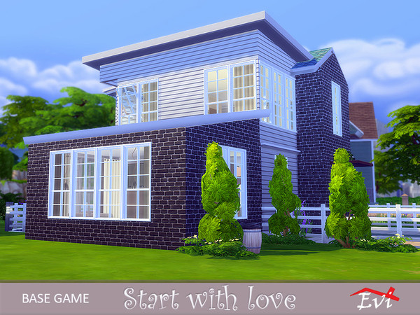 Sims 4 Start with love house by evi at TSR